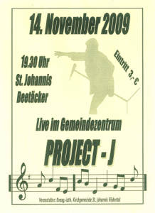 Plakat 14.11.2009 St. Johannis/Rödental